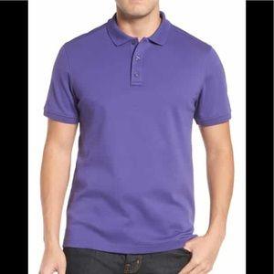 Nordstrom Dark Purple, short sleeved shirt